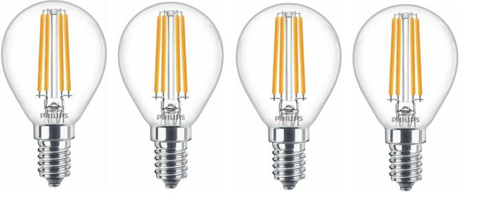 Philips E14 LED 6.5W = 60W Leuchtmittel 806Lumen Lampe Licht 4000K 4er-Pack