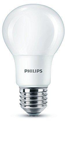 Philips LED-Leuchtmittel E27, Edison-Gewinde, matt, 8 W (60 W) – Warmweiß 8718696761267