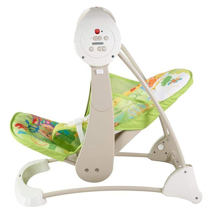 Fisher-Price CCN92 2 in 1 Babyschaukel im Regenwald Design, mit 6 Geschwindigkeitsstufen, 10 Melodien und 2 beruhigenden Naturgeräuschen