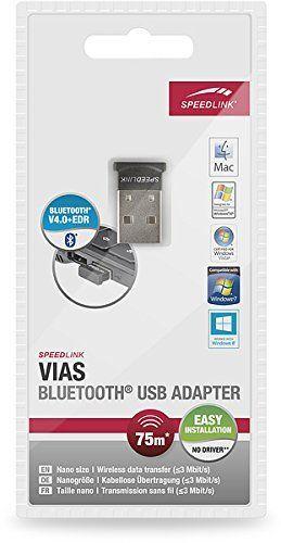Speedlink (B-WARE) Bluetooth - 4.0 Adapter - VIAS BT Adapter Nano USB PC / Computer / Laptop / Notebook schwarz
