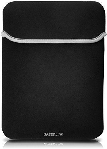 Speedlink (B-WARE) Leaf Schutzhülle bis 8-Zoll/20,3cm für Tablets und eBook Reader (schützt vor Kratzern und Schmutz, widerstandsfähiger flexibler Stoff) schwarz