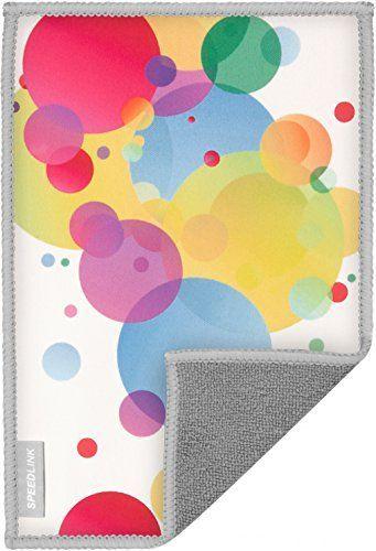 Speedlink (B-WARE) Hochwertiges Mikrofasertuch - SILK Cleaning Cloth Bubbles (schonende Reinigung von Gehäuse und Display - trockene und feuchte Anwendung - langlebiges, wiederverwendbares Material) Tablet-PCs / Pads Smartphones