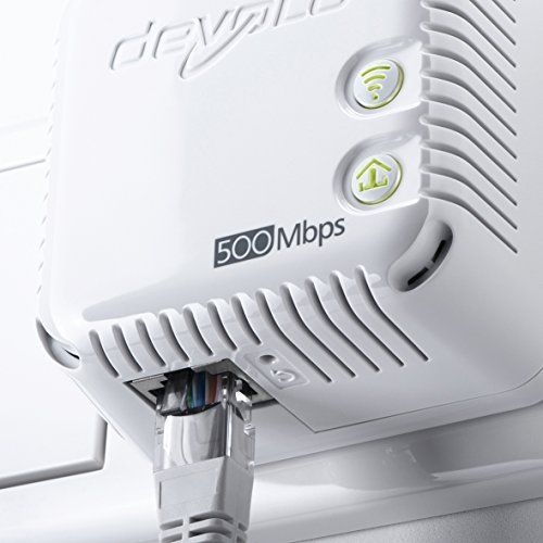 Devolo dLAN 500WiFi Ethernet 500Mbit/s Karte und Adapter Netzwerk–Karten und Adapter Netzwerk (kabelgebunden, Prise D alimenation, Ethernet, 500MBit/s, IEEE 802.3, IEEE 802.3u, weiß) B-Ware