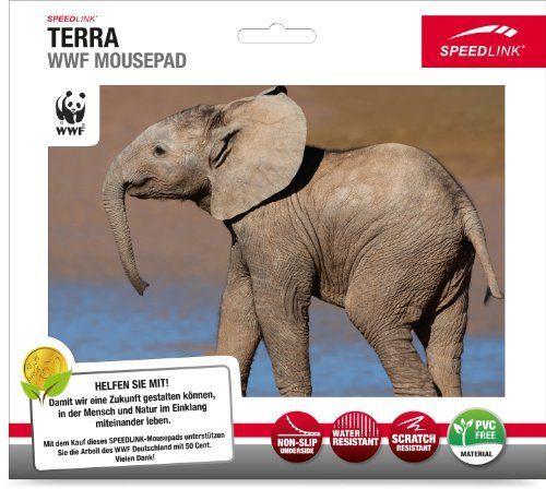 Speedlink (B-WARE) Terra WWF Mauspad Elefant (Sie unterstützen WWF Deutschland mit 50Cent pro gekauftem Exemplar, verschiedene Motive)
