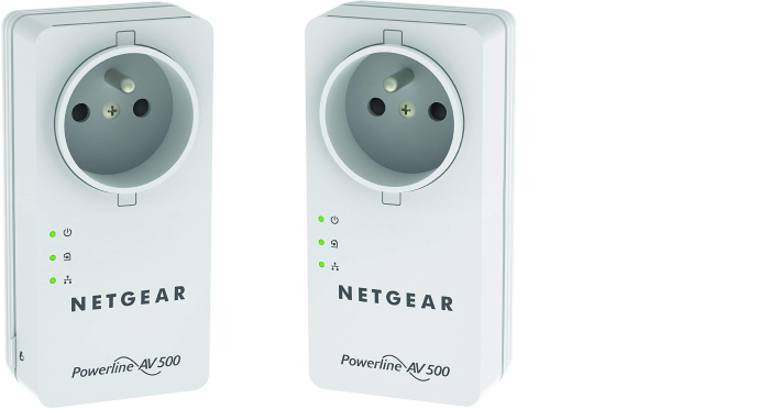 NETGEAR Powerline AV+ 500 Netzwerkadapter Kit 2x Adapter Generalüberholt