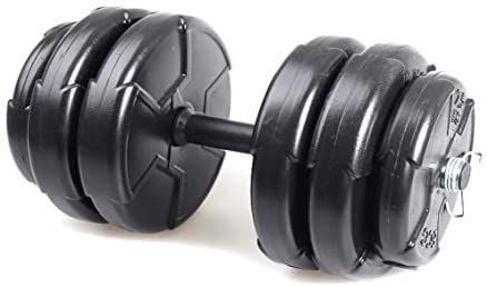Fidusport Verstellbares Hantelset Vinyl Hantel Set Kurzhantel Gewichte 16 bis 30kg Hantelscheiben Kurzhantelstange 20-30KG