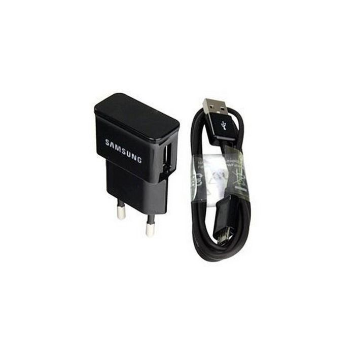 Samsung Original micro-USB Ladegerät ETA0U80EBEGXEG (kompatibel mit Galaxy Note) in schwarz