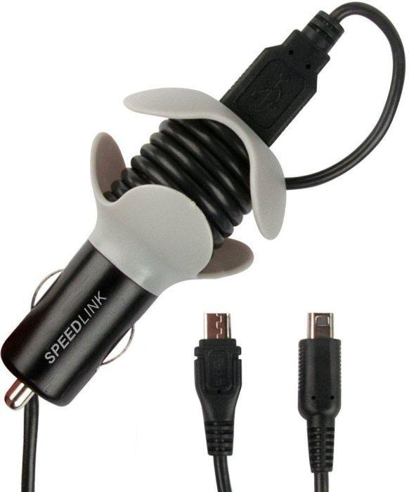 Speedlink (B-WARE)   Tuor Nintendo-KFZ-Ladegerät (USB-Y-Kabel mit micro-USB und Nintendo-Anschluss für N3DS XL/N3DS/NDSi XL/NDSi/N2DS)