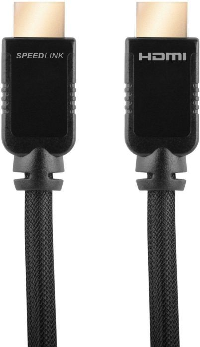 Speedlink (B-WARE)   Shield-3 Wii U HDMI Kabel (Unterstützt 4K Auflösung in 3D, 60 Fps, 2160p, Datenrate bis zu 14,4 GBit/s, HDMI 2.0, Ethernet)
