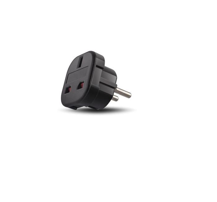 Reisestecker UK zu DE / EU Steckdosenadapter Adapter Netzadapter schwarz Top Quailtät