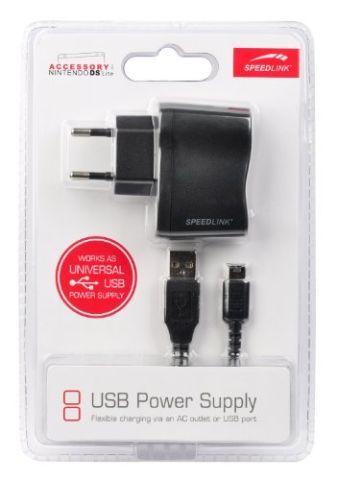 Speedlink (B-WARE) Netzteil und USB-Ladekabel für Nintendo DS Lite (1,5m Kabellänge) 6/5/5/ 6127