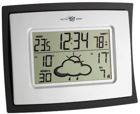TFA Dostmann Digitaluhr mit satellitengestützter Wetterstation Ora 35.5037  25-2-4-4412